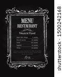 blackboard restaurant drawn... | Shutterstock .eps vector #1500242168
