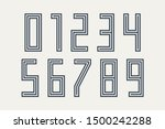 numbers font. sport font with... | Shutterstock .eps vector #1500242288