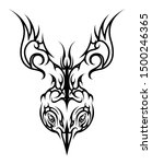 jumping bird abstract celtic... | Shutterstock .eps vector #1500246365
