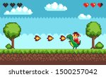 computer pixel game interface ... | Shutterstock .eps vector #1500257042