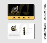 Excavator And Business Card...