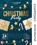 christmas party poster template ... | Shutterstock .eps vector #1500266915