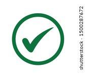 flat tick mark  check mark icon ...   Shutterstock .eps vector #1500287672