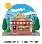 bakery shop building facade... | Shutterstock .eps vector #1500291485
