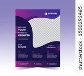poster flyer pamphlet brochure... | Shutterstock .eps vector #1500293465