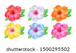 watercolor hand drawn... | Shutterstock . vector #1500295502