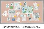crime research board flat...   Shutterstock .eps vector #1500308762
