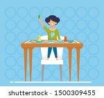 bright banner game chess for... | Shutterstock .eps vector #1500309455