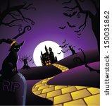 creepy halloween background.... | Shutterstock .eps vector #150031862