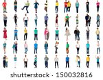 set of trendy people isolated... | Shutterstock . vector #150032816