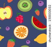 seamless pattern with fruits... | Shutterstock .eps vector #150033032
