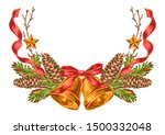 merry christmas decoration... | Shutterstock .eps vector #1500332048
