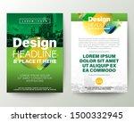 green brochure cover flyer...   Shutterstock .eps vector #1500332945
