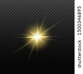 vector light lens flare effect. ... | Shutterstock .eps vector #1500346895