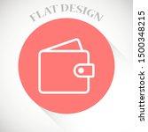 wallet icon in trendy flat...