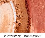 Stock photo bronzer or blusher and compact powder brown nude smudge white isolated background 1500354098