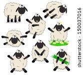 Nice Set Of Cartoon Sheeps