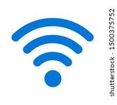 flat illustration of wifi... | Shutterstock .eps vector #1500375752