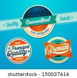 premium quality badges | Shutterstock .eps vector #150037616