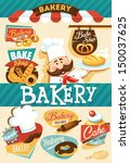 bakery design template | Shutterstock .eps vector #150037625