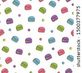 cute seamless pattern with... | Shutterstock .eps vector #1500377975