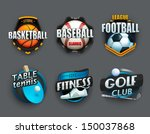 set of different sport icons.... | Shutterstock .eps vector #150037868