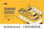 transport logistics isometric... | Shutterstock .eps vector #1500380048