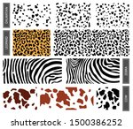 set dalmatian  leopard and cow... | Shutterstock .eps vector #1500386252