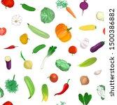 seamless pattern of vegetables... | Shutterstock .eps vector #1500386882