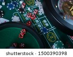 Poker chips with roulette ...