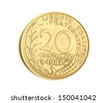 coin macro isolated on white ... | Shutterstock . vector #150041042