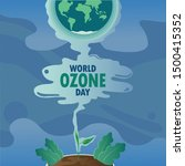 An illustration for World Ozone Day with Flat Design Concept.