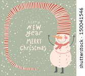 merry christmas and a happy new ... | Shutterstock .eps vector #150041546