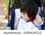 cute asian baby in a stroller   Shutterstock . vector #1500429122