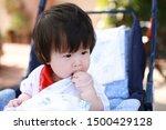 cute asian baby in a stroller   Shutterstock . vector #1500429128
