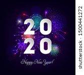happy new year illustration... | Shutterstock .eps vector #1500441272