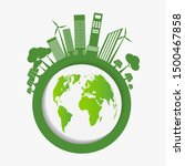 ecology earth day concept and... | Shutterstock .eps vector #1500467858