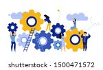 man and woman business... | Shutterstock .eps vector #1500471572
