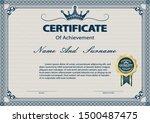 certificate or diploma vintage... | Shutterstock .eps vector #1500487475