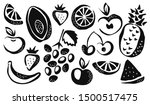 collection of different fruits... | Shutterstock .eps vector #1500517475