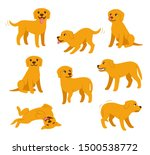 cartoon dog set with different... | Shutterstock .eps vector #1500538772