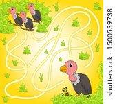 funny maze. game for kids.... | Shutterstock .eps vector #1500539738