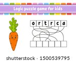logic puzzle game. learning... | Shutterstock .eps vector #1500539795