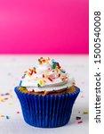 Tasty Vanilla Cupcake With...