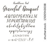 handdrawn calligraphic font.... | Shutterstock .eps vector #1500543038
