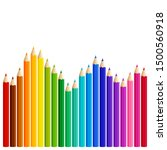 wave of colored pencils ... | Shutterstock .eps vector #1500560918