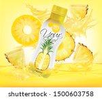 vector pineapple juice  fruit... | Shutterstock .eps vector #1500603758