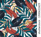 tropical seamless pattern with... | Shutterstock .eps vector #1500622625