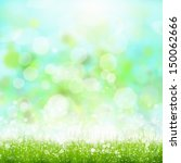 green summer meadow with sun... | Shutterstock . vector #150062666