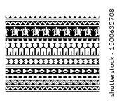 polynesian  ethnic seamless... | Shutterstock .eps vector #1500635708